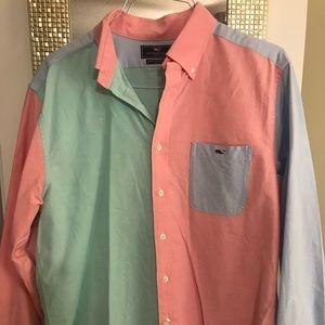 Vineyard Vines Multicolored Button Down Shirt
